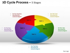 PowerPoint Slide Strategy Cycle Process Flow Ppt Process
