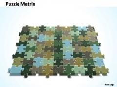 PowerPoint Slide Success 9x8 Rectangular Jigsaw Puzzle Matrix Ppt Theme