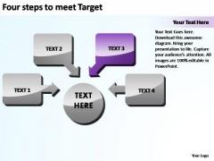 PowerPoint Slide Success Four Steps To Meet Target Ppt Design