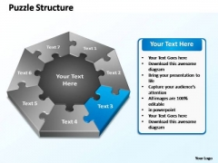 PowerPoint Slide Success Puzzle Structure Ppt Theme