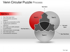 PowerPoint Slide Teamwork Circular Puzzle Ppt Process