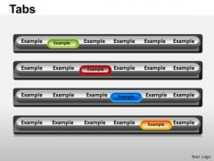 PowerPoint Slide Teamwork Tabs Ppt Layouts