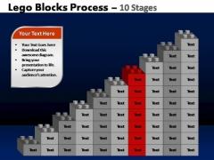 PowerPoint Slidelayout Chart Lego Blocks Ppt Slides