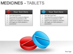 PowerPoint Slidelayout Chart Medicine Tablets Ppt Slide