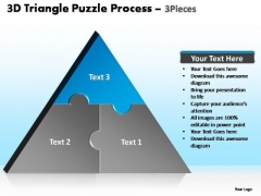 PowerPoint Slidelayout Chart Triangle Puzzle Ppt Design