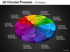 PowerPoint Slidelayout Circular Chart Circular Process Ppt Process