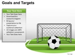 PowerPoint Slidelayout Company Goals And Targets Ppt Process