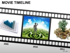PowerPoint Slidelayout Company Movie Timeline Ppt Slide Designs