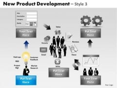 PowerPoint Slidelayout Company Product Development Ppt Themes