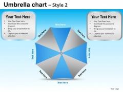 PowerPoint Slidelayout Company Success Targets Umbrella Chart Ppt Slides
