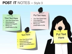 PowerPoint Slidelayout Corporate Education Post It Notes Ppt Layouts
