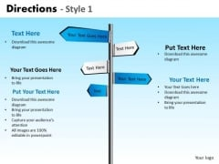 PowerPoint Slidelayout Diagram Directions Ppt Theme
