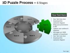 PowerPoint Slidelayout Diagram Jigsaw Pie Chart Ppt Presentation