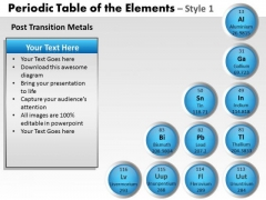 PowerPoint Slidelayout Diagram Periodic Table Ppt Slide