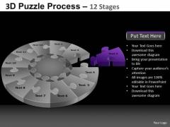 PowerPoint Slidelayout Diagram Pie Chart Puzzle Process Ppt Design