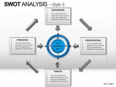 PowerPoint Slidelayout Diagram Swot Analysis Ppt Slide