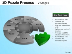 PowerPoint Slidelayout Download Jigsaw Pie Chart Ppt Backgrounds