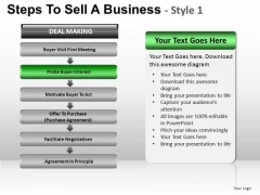 PowerPoint Slidelayout Download Steps To Sell Ppt Design