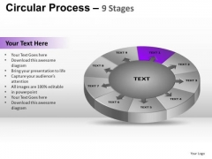 PowerPoint Slidelayout Editable Circular Process Ppt Process