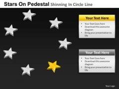 PowerPoint Slidelayout Education Pedestal Shinning Ppt Templates