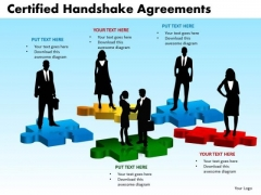 PowerPoint Slidelayout Global Certified Handshake Ppt Layout