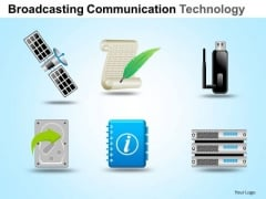 PowerPoint Slidelayout Graphic Communication Technology Ppt Slide Designs