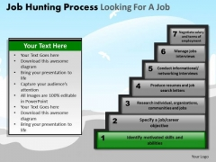 PowerPoint Slidelayout Graphic Job Hunting Process Ppt Process