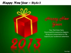 PowerPoint Slidelayout Growth Happy New Year Ppt Process