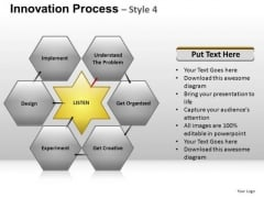 PowerPoint Slidelayout Growth Hexagon Chart Ppt Themes