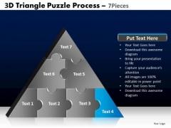 PowerPoint Slidelayout Growth Triangle Puzzle Ppt Design Slides