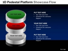 PowerPoint Slidelayout Leadership Pedestal Platform Showcase Ppt Layouts