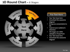 PowerPoint Slidelayout Leadership Round Chart Ppt Theme
