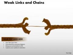 PowerPoint Slidelayout Leadership Weak Links Ppt Design