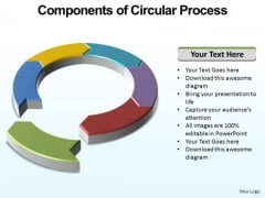 PowerPoint Slidelayout Process Circular Process Ppt Themes