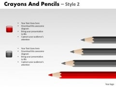 PowerPoint Slidelayout Process Crayons And Pencils Ppt Theme
