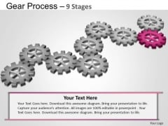 PowerPoint Slidelayout Process Gears Process Ppt Backgrounds
