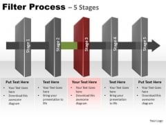 PowerPoint Slidelayout Sales Filter Process Ppt Slides