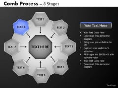 PowerPoint Slidelayout Sales Hub And Spokes Process Ppt Slides
