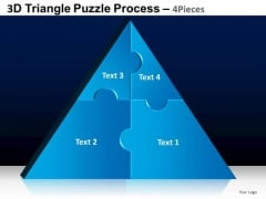 PowerPoint Slidelayout Teamwork Triangle Puzzle Ppt Design