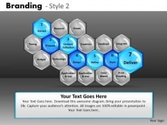 PowerPoint Slides 7th Stage Hexagon Process Diagram Ppt Templates