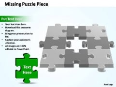 PowerPoint Slides Business 3d 3x3 Missing Puzzle Piece Ppt Process