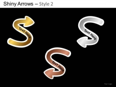 PowerPoint Slides Business Competition Shiny Arrows 2 Ppt Themes