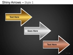 PowerPoint Slides Business Designs Shiny Arrows Ppt Theme