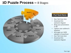 PowerPoint Slides Business Strategy Puzzle Segment Pie Chart Ppt Themes