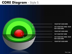 PowerPoint Slides Business Strategy Targets Core Diagram Ppt Layout