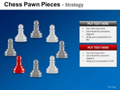 PowerPoint Slides Business Success Chess Pawn Ppt Themes