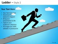 PowerPoint Slides Business Success Ladder Ppt Templates