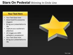 PowerPoint Slides Chart Pedestal Shinning Ppt Theme