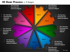 PowerPoint Slides Circle Process Gear Process Ppt Slide