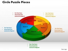 PowerPoint Slides Circle Puzzle Graphic Ppt Design